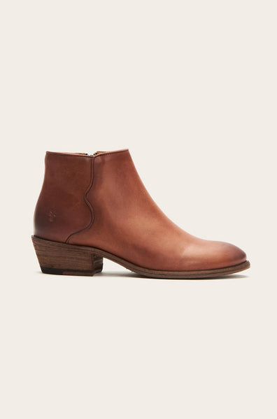 Carson Piping Bootie - Cognac