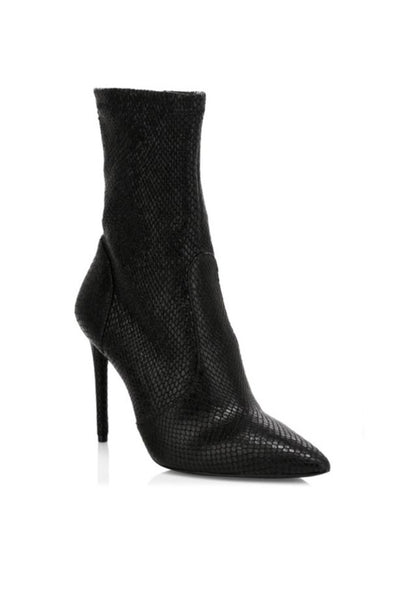 Corby Snakeskin Boots - Black