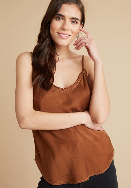 Frayed Edge Camisole - Copper