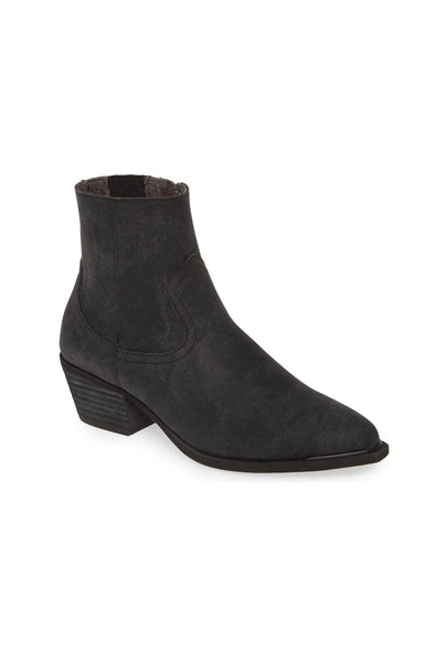 Creed Stamped Denim Booties - Charcoal