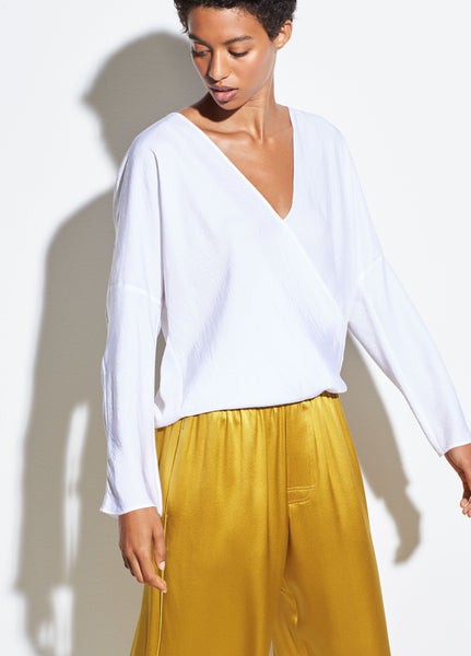 Crossover Blouse - Optic White