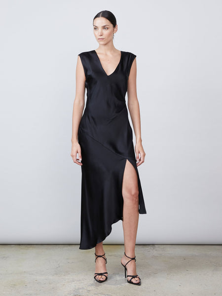 Desiree Open Back Dress - Black