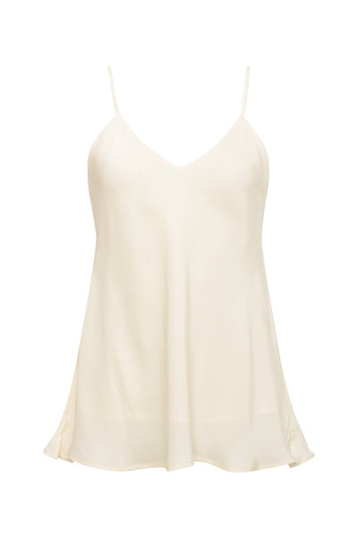 Double Solid Silk Cami - Dove
