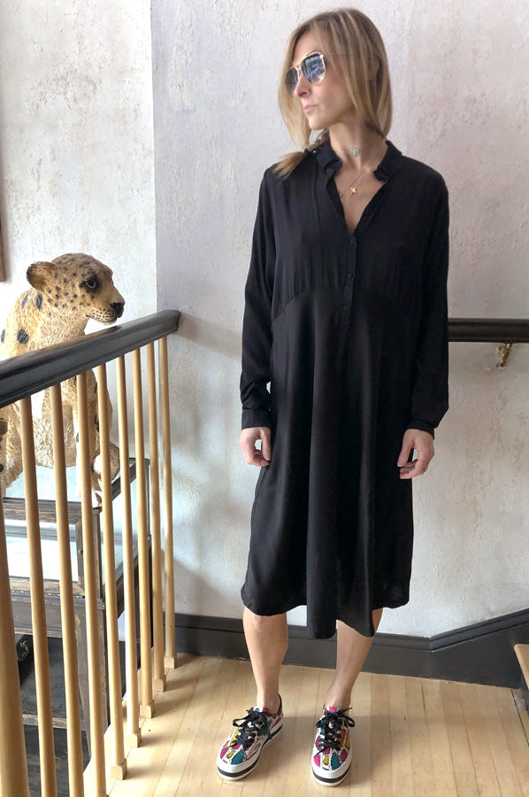 Long Sleeve Dress - Black
