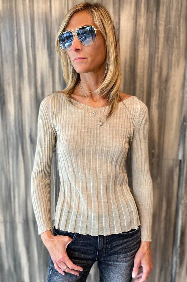Long Sleeve Sweater - Beige