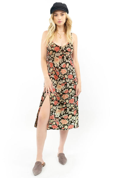 Georgia Midi Dress - Black Floral