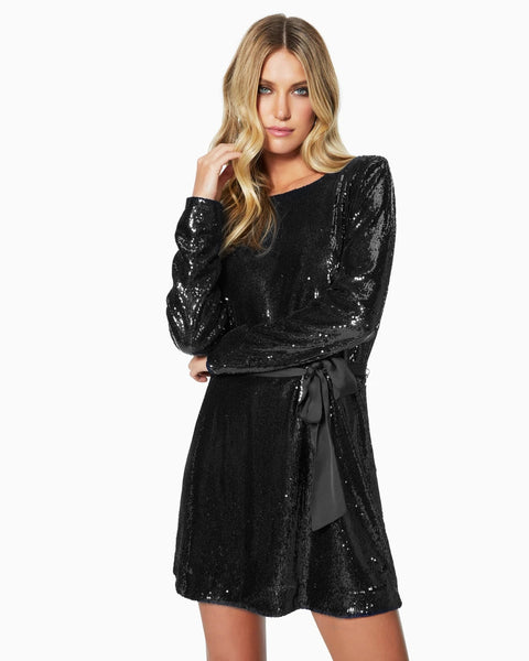 Hallie Sequin Dress - Black