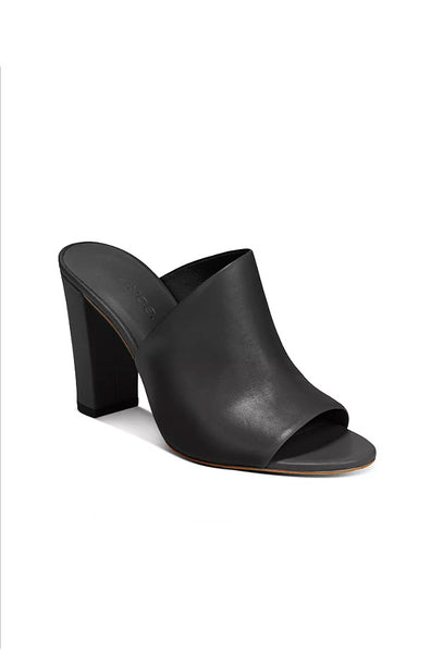 Hanna Leather Mule - Black