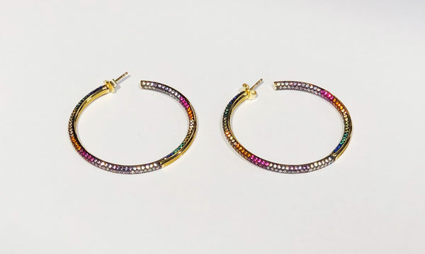 Medium Gold Rainbow Hoop
