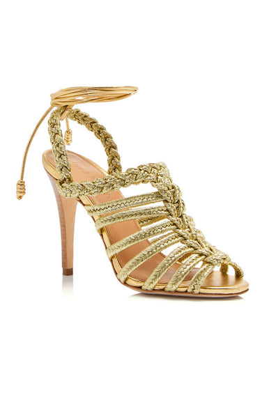 Isabel Braided Sandals - Gold