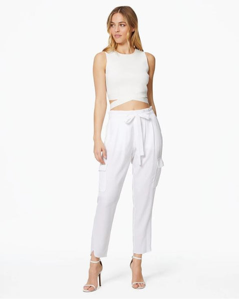 Satin Pocket Allyn Pant - Ivory