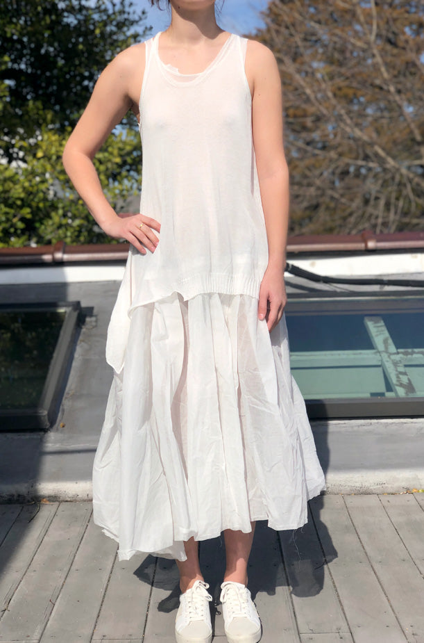 Sleeveless Top Dress - Ivory