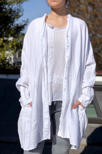 Button Up Duster - White