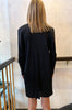 Mid Length Pleats Jacket - Black