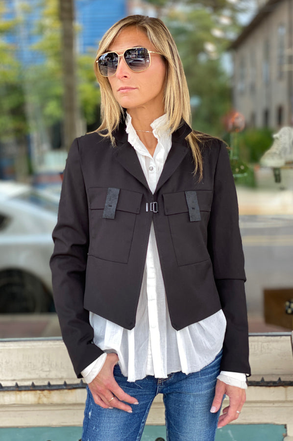 Buckle Jacket - Black