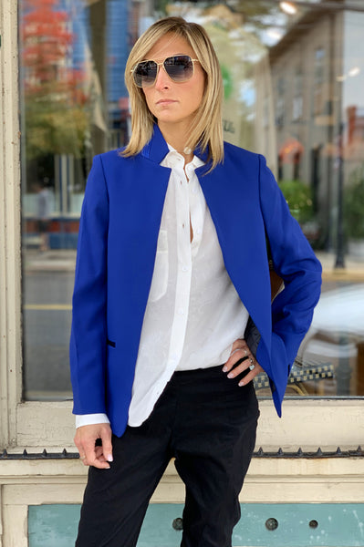 Volly Crepe Jacket - Blue