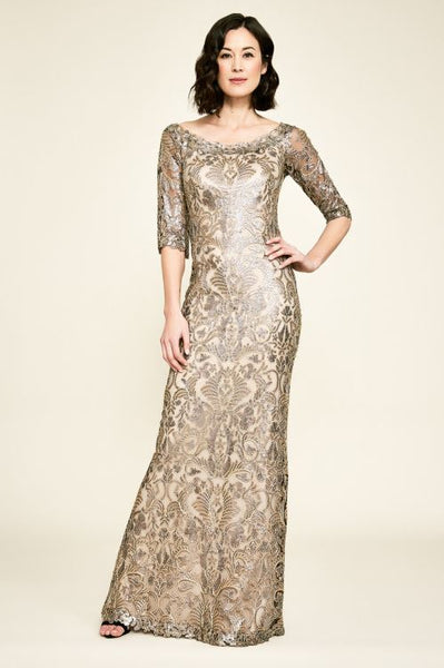 Jemison Sequin Embroidered Gown - Copper / Shadow