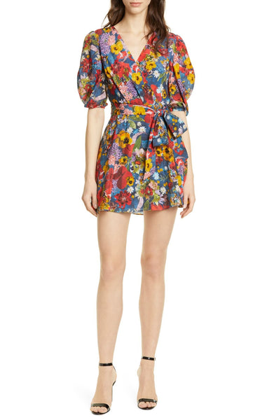 Kerri Wrap Dress - Colorful Blossom
