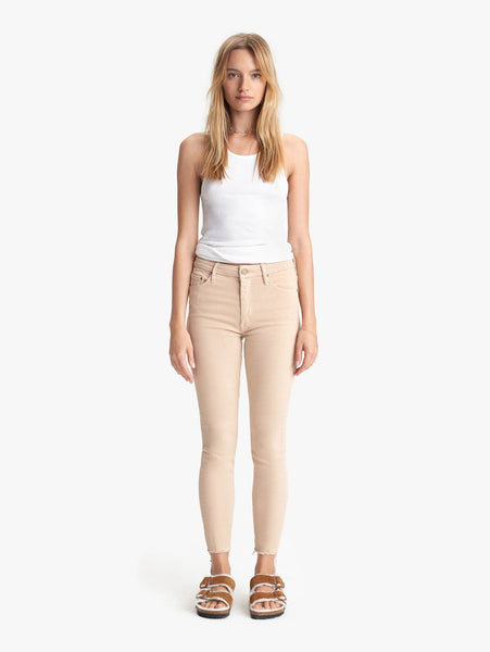 The High Waisted Looker Ankle Fray - Khaki