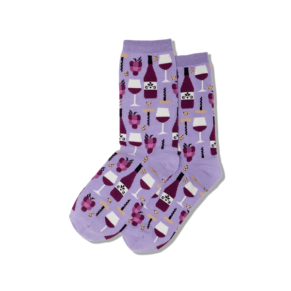Women's Wine Crew Socks