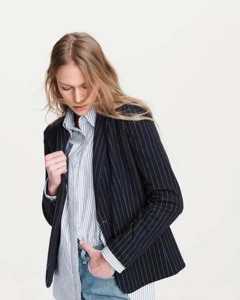 Lexington Blazer - Navy Pinstripe