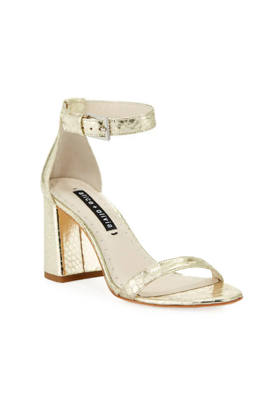 Lillian Heeled Sandals - Light Gold Snake