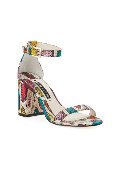 Lillian Heeled Sandals - Snake Multi