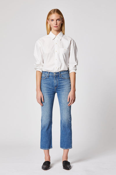 Remi High Rise Straight Cropped Jean - Lullaby