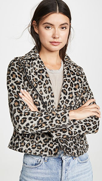 Margaux Leopard Jacket - Heather Grey