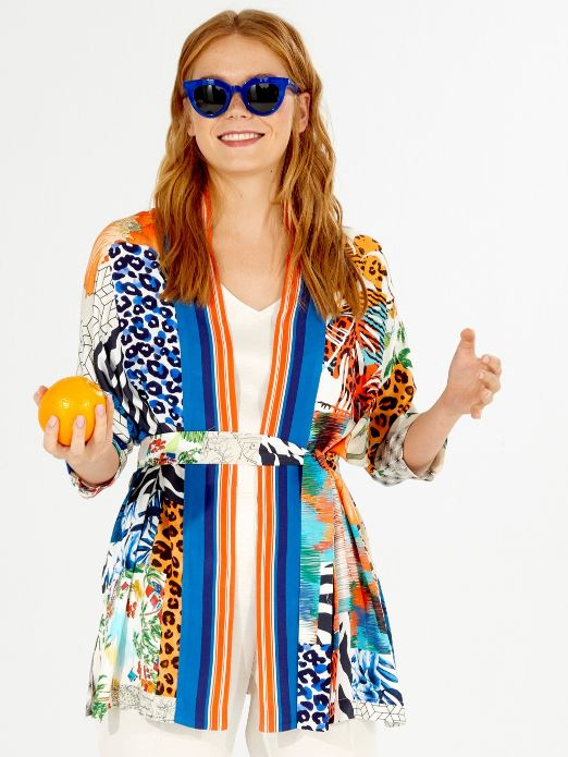 Mariana Jacket - Summer Collage Print