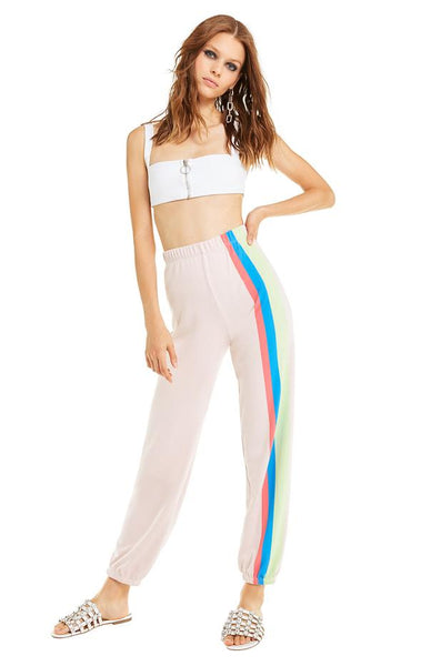 Mellow Stripes Easy Sweats - Vanilla / Quartz