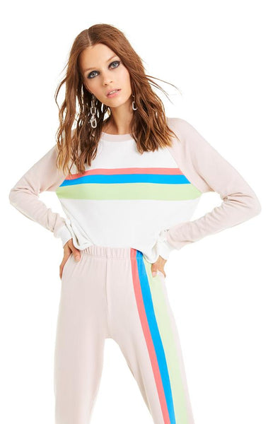 Mellow Stripe Beach House Crop - Vanilla / Quartz