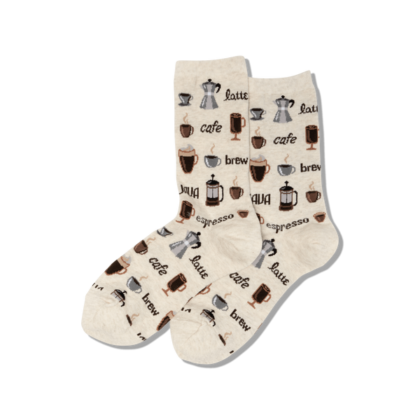Women's Coffee Crew Socks