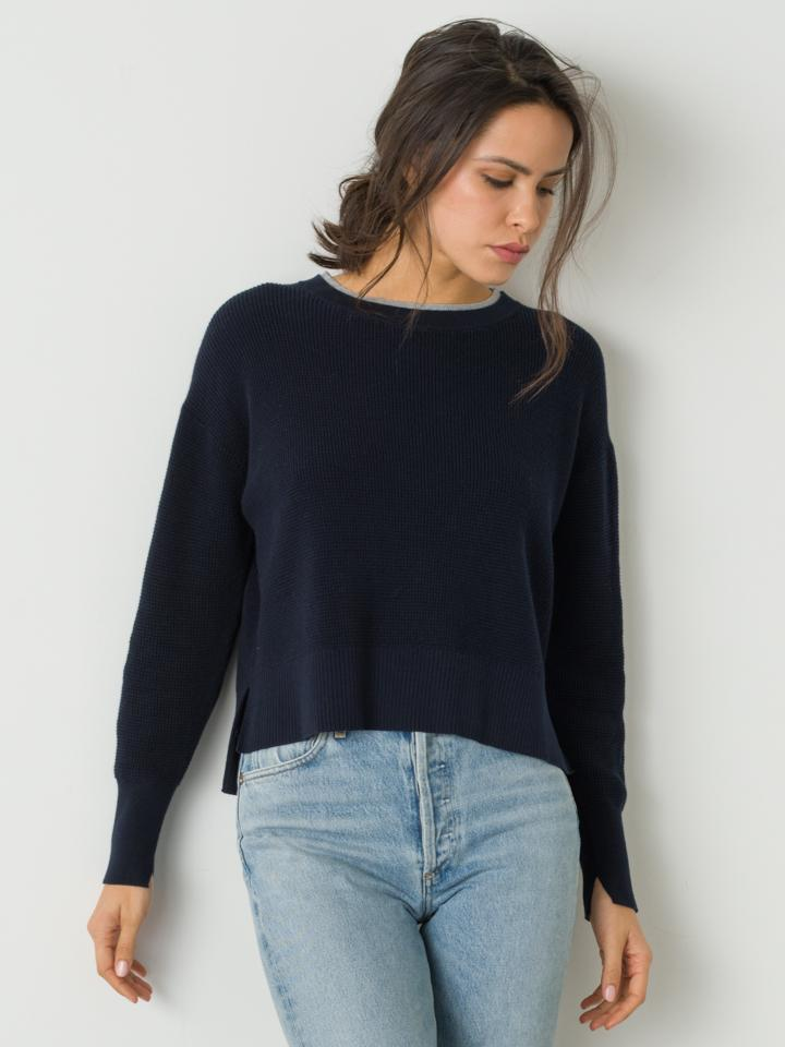 Ali Boxy Crew - Navy / Heather
