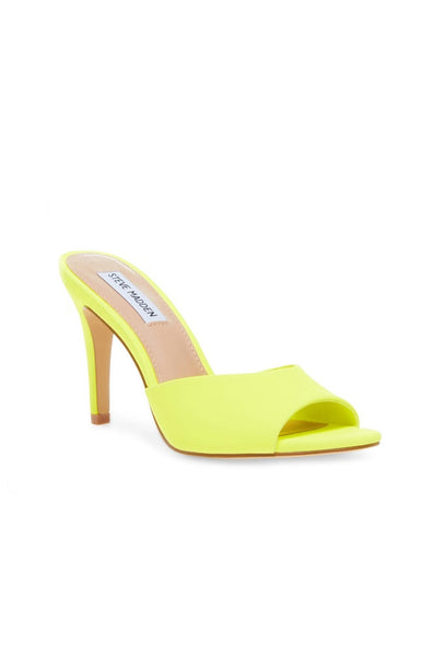 Erin Heeled Mule - Neon Yellow