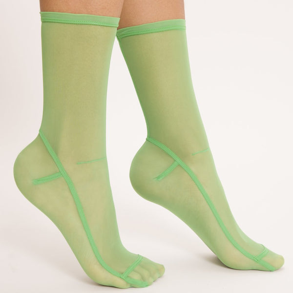 Solid Mesh Socks - Neon Green