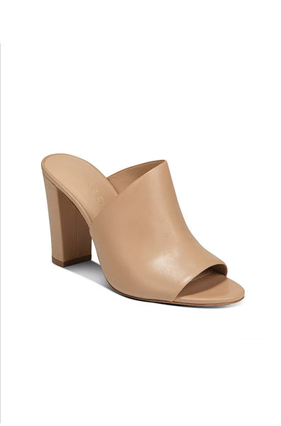 Hanna Leather Mule - Nude