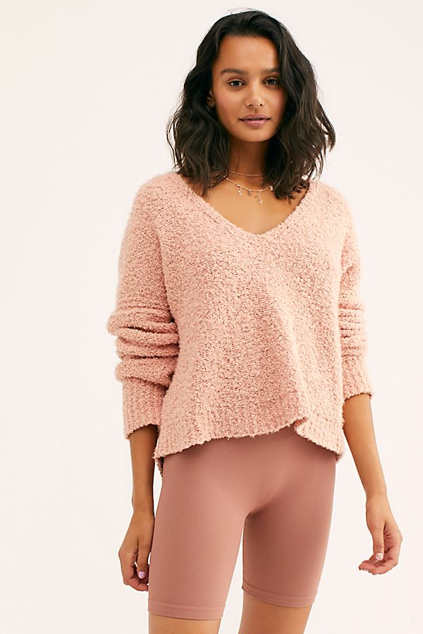 Finders Keepers V-Neck Sweater - Nude Peach