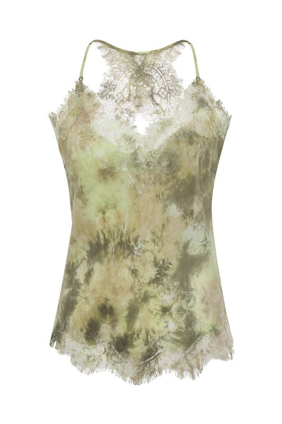 Jenni Tie Dye Cami - Muted Olive