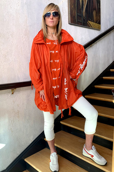 Short Coat - Orange Print