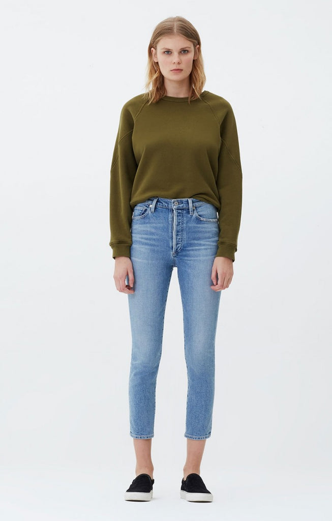 Olivia Seam High Rise Slim Crop - Outset