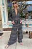 Wide Leg Pants - Black Multi