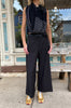 Wide Leg Pants - Dark