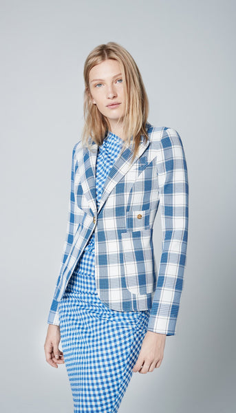 Patch Pocket Duchess Blazer - Pacific Blue Check