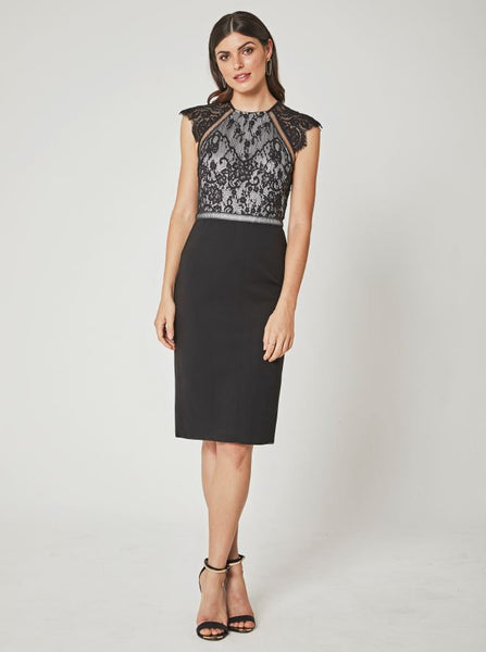 Penny Dress - Black / Platinum