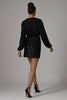 Polly Sequin Mini Dress - Black