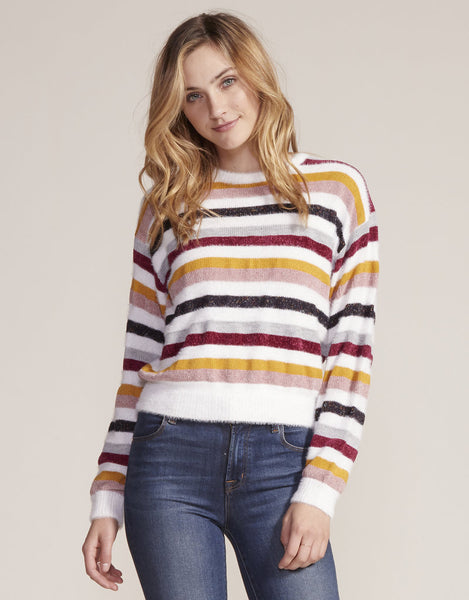 Rach Stripe Sweater - Ivory