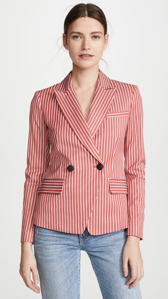 Fletcher Striped Blazer - Red Stripe