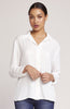 Roll Up My Sleeves Button Front Blouse - Ivory
