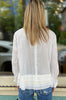 Ruffle Tiered Blouse - White